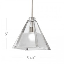 WAC US MP-915LED-CF/CH - TIKAL PENDANT CANOPY MOUNT WITH LED LAMP