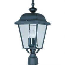Maxim 3008BK - Builder Cast 3-Light Outdoor Pole/Post Lantern