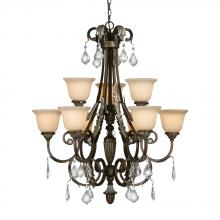 Golden 2303-GL9 MC - Highland Park 2 Tier Chandelier in the Mahoga