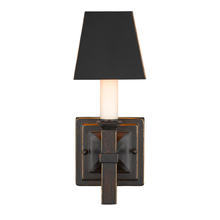Golden 5907-1W CDB-BLK - 1 Light Wall Sconce (With Shades)