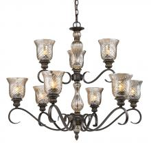 Golden 8118-9 BUS - 2 Tier Chandelier