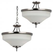 Generation Lighting - Seagull 77180BLE-965 - Montreal Three Light Fluorescent Ceiling Semi-Flush Convertible