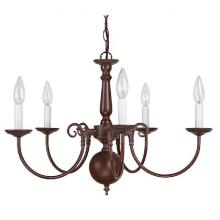 Capital 3125VB - Five Light Vintage Bronze Up Chandelier