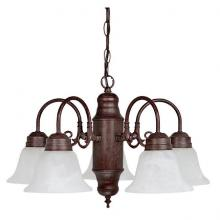 Capital 3255VB-118 - Five Light Vintage Bronze Down Chandelier