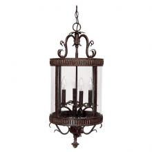 Capital 3323TS - Four Light Tortoise Framed Glass Foyer Hall Fixture