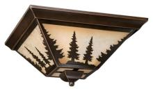 "Vaxcel International CC55514BBZ - Yosemite 14"" Flush Mount"