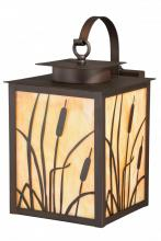 "Vaxcel International T0227 - Bulrush 9"" Outdoor Wall Light Burnished Bronze"