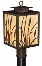 "Vaxcel International T0229 - Bulrush 9"" Outdoor Post Light Burnished Bronze"