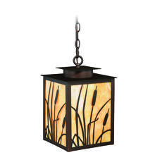 "Vaxcel International T0231 - Bulrush 9"" Outdoor Pendant Burnished Bronze"