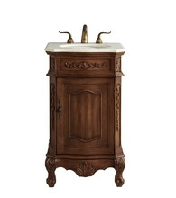 Elegant VF10121TK - 21 In. Single Bathroom Vanity Set In Teak Color