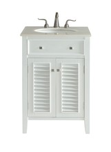 Elegant VF10424WH - 24 In. Single Bathroom Vanity Set In White