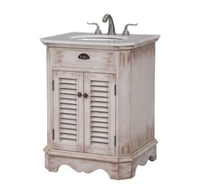 Elegant VF30326WW - 26 In. Single Bathroom Vanity Set In White Wash