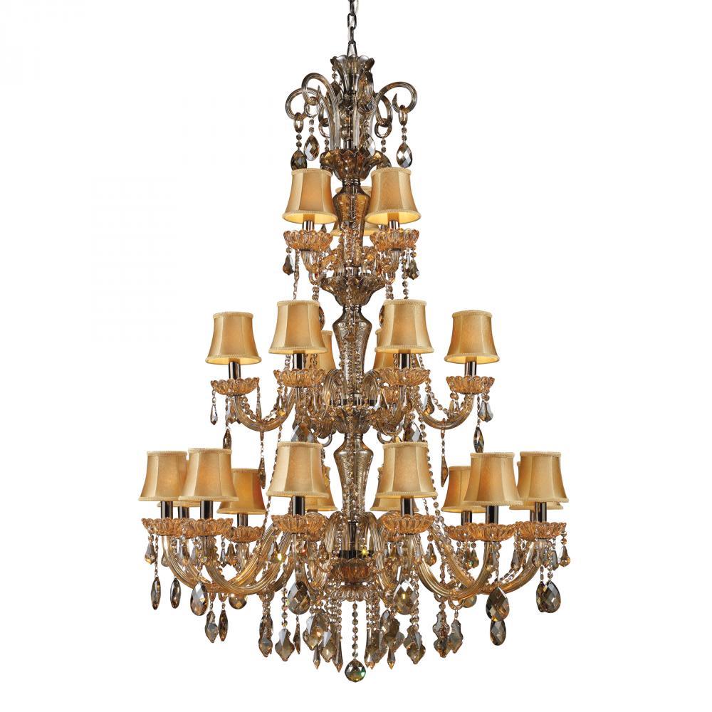 Twenty One Light Black Nickel/tan Crystal Golden Amber Glass Up ...:Twenty One Light Black Nickel/tan Crystal Golden Amber Glass Up Chandelier  : 9AUV | U.S. 31 Supply Inc.,Lighting