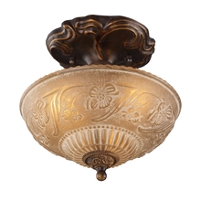 ELK Lighting 08103-AGB - Restoration Flushes 3 Light Semi Flush In Antiqu