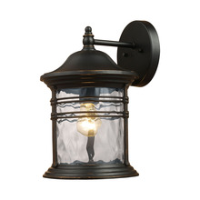 ELK Lighting 08161-MBG - Madison 1 Light Outdoor Wall Sconce In Matte Bla