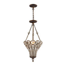 ELK Lighting 12032/3 - Christina 3-Light Chandelier in Mocha with Clear Crystal