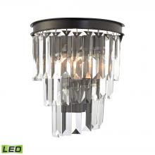 ELK Lighting 14215/1-LED - Palacial 1-Light Sconce in Oil Rubbed Bronze with Clear Crystal - Includes LED Bulb