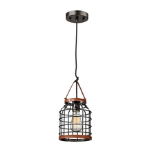 ELK Lighting 14306/1 - Purcell 1 Light Pendant In Weathered Iron