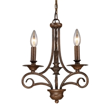 ELK Lighting 15041/3 - Gloucester 3 Light Chandelier In Weathered Bronz