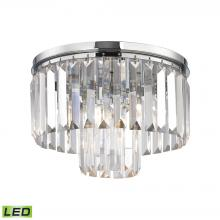 ELK Lighting 15213/1-LED - Palacial 1-Light Flush Mount in Polished Chrome with Clear Crystal - Includes LED Bulb