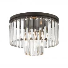 ELK Lighting 15223/1 - Palacial 1-Light Semi Flush in Oil Rubbed Bronze with Clear Crystal