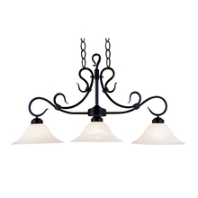 ELK Lighting 247-BK - Buckingham 3 Light Island In Matte Black And Whi