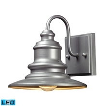 ELK Lighting 47020/1-LED - Marina 1 Light Outdoor LED Sconce In Matte Silve