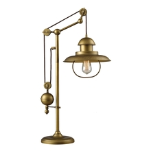 ELK Lighting 65100-1 - Farmhouse Adjustable Table Lamp in Antique Brass (D2252)