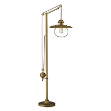 ELK Lighting 65101-1 - Farmhouse Adjustable Floor Lamp in Antique Brass (D2254)