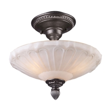 ELK Lighting 66092-3 - Restoration Flushes 3 Light Semi Flush In Dark S