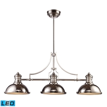 ELK Lighting 66115-3-LED - Chadwick 3 Light LED Billiard In Polished Nickel