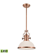 ELK Lighting 66143-1-LED - Chadwick 1 Light LED Pendant In Antique Copper A