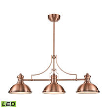ELK Lighting 66145-3-LED - Chadwick 3 Light LED Billiard In Antique Copper