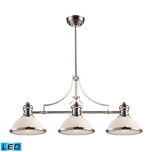 ELK Lighting 66215-3-LED - Chadwick 3 Light LED Billiard In Polished Nickel