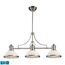ELK Lighting 66225-3-LED - Chadwick 3 Light LED Billiard In Satin Nickel An