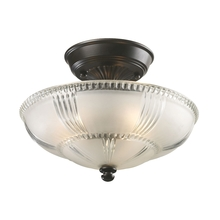 ELK Lighting 66335-3 - Restoration Flushes 3 Light Semi Flush In Oiled