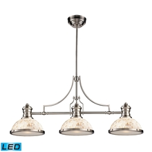 ELK Lighting 66425-3-LED - Chadwick 3 Light LED Billiard In Satin Nickel An