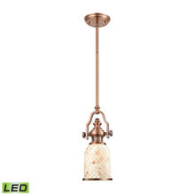 ELK Lighting 66442-1-LED - Chadwick 1 Light LED Pendant In Antique Copper A
