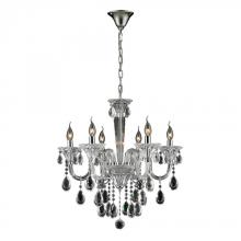 ELK Lighting 80002/6 - Six Light Clear/chrome Up Chandelier