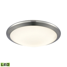 ELK Lighting FML4525-10-15 - Clancy Round LED Flushmount In Chrome And Opal G